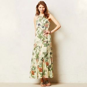 Anthropologie Maeve Maravilla Tiered Maxi Dress
